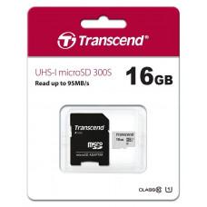 Карта памяти Transcend MicroSDHC 16GB (Class 10) + SD адаптер