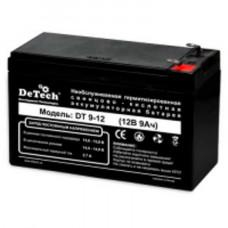 Батарея аккумуляторная 12V 9A DeTech