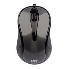 Мышь A4-Tech N-320-1 Серая -Черная проводная мини V-Track USB, 1000dpi