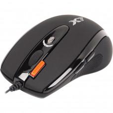 Мышь A4-Tech X710BK USB Black, X7 Full speed Gaming Oscar mouse, Прогр.кнопки! Память 16К